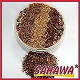 SAHAWA Koi-Spezialmix mit Insekten, Koifutter, Trockenfutter, Teichsticks, Reptilien, getrocknete Bachflohkrebse, Mehlwürmer, Shrimps, Seidenraupen Koifutter, Goldfischfutter (5 l Eimer)