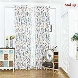 Mariposa colorida impresa gasa puerta de la ventana persianas Cortinas para el dormitorio cortinas de ventana de la cocina LUFA