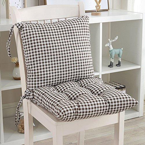 JiaQi Sitzkissen Für küchenstühle,Verdicken sie Stuhl-pad Mit Krawatten,Weiches Seat dämpfung Rückenschmerzen Kissen Überfüllte Reißverschluss-G 40x40cm(16x16inch)