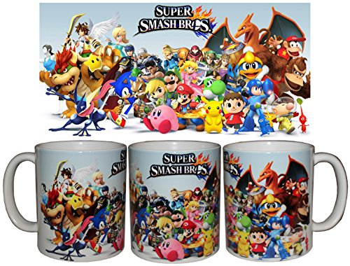 Taza Super Smash Bros + chapa