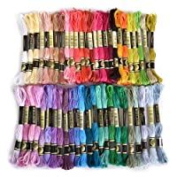 Flissy Embroidery Thread, 100% Cotton, Assorted Coloured Skeins