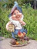 Design 11020 Zwerg 41 cm Hoch Deko Garten Gartenzwerg Figuren