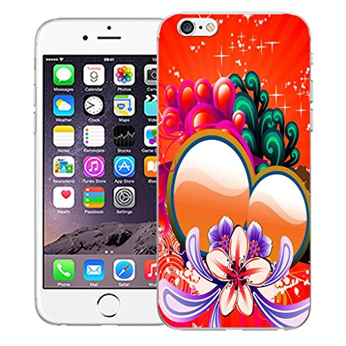"""Mobile Case Mate iPhone 6 4.7"""" inch clip on Dur Coque couverture case cover Pare-chocs - sunflower bubbles Motif avec Stylet red sweetheart"""