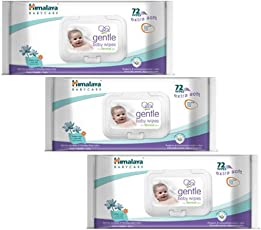 Cheesy Cheeks Baby Boy's and Baby Girl's Himalaya Gentle Baby Wipes 72 - 3 Pieces