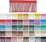 e-kurzwaren 1m / 5m / 25m Fransenborte 6cm / 8cm / 12cm Breite Posamentenborte Farbvielfalt Dekoration Fransen Vorhang Deko