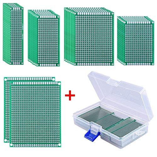 pelseitig Lochrasterplatte Prototype Lochrasterplatine Mit Freiem Kasten, 5 Größen für DIY Löten und Elektronisches Projekt ()