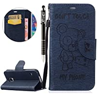 Custodia Galaxy S5,SainCat Custodia in pelle Protettiva Flip Cover per
