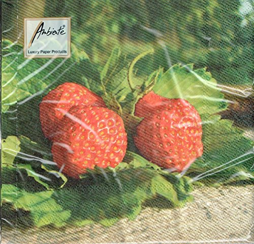 ambiente-serviettes-strawberry-jam-fraises-fruits