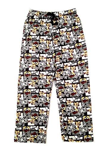 Mens Character Lounge Pants Pyjamas Pj Bottoms Trousers Cartoon Comic Boys Nightwear Size UK S - XL