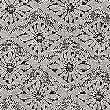 Fabulous Fabrics Jacquard Blumenrauten – schwarz/Weiss — Meterware ab 0,5m — zum Nähen von Jacken und Mänteln und Herbst- und Winterbekleidung