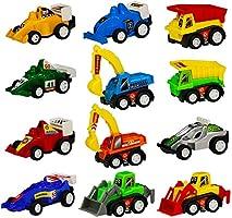 Miniature Véhicule Plastique Voiture de Courses Friction Jouets Cadeau Pour Enfants 6 Pièces