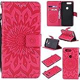 WindTeco OnePlus 5T Hülle, Mandala Blumen Handyhülle Flip Leder Hülle Wallet Case Cover Schutzhülle mit Kartenfach Magnetverschluss für OnePlus 5T