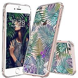 MOSNOVO iPhone 6 Hülle, iPhone 6s Case, Tropisch Palmblatt Muster Transparent TPU Bumper Silikon mit Hart Plastik Durchsichtige Schutzhülle für Apple iPhone 6 (4,7 Zoll) (Tropical Forests)