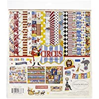 Carta Bella Paper Paper, Red, Orange, Cream, Yellow, Black