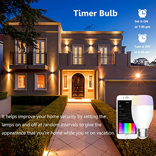 arvin smart gl hbirne lampe schlafzimmer f r alexa zubeh r smart home beleuchtung smartphone. Black Bedroom Furniture Sets. Home Design Ideas