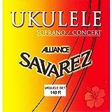 Savarez  140R Jeu de cordes pour Ukulélé Soprane/Concert