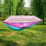 GPPZ Portable Indoor Outdoor Hängematte Für Backpacking Camping Hängebett Mit Moskitonetz Schlafen Hängematte Strand Zelt
