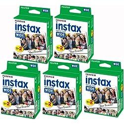 Fujifilm Instax–Lot de 5boîtes de 20pellicules (100Photos Format Large) pour Fuji Instax 210