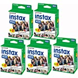 Bundle 5 packs of 20 Fujifilm Instax Wide format Film (100 photos) for Fuji Instax 210 camera