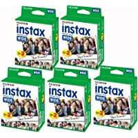 Fujifilm Instax - Set of 5 boxes of 20 film reels (100 wide-angle photos) for Fuji Instax 210.
