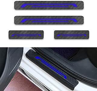 Per C1 C2 C3 C4 C5 C6 Battitacco Soglia Porta Auto,Carbon Fiber Sticker adesivi Styling,Esterno Batticalcagno Prevenire lusura Previene graffi 4Pezzi Bianco