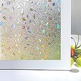 Vinilos para Cristales Zindoo Vinilo Ventana Decorativos Laminas para Ventanas Proteger la Privacidad del Bano 45 X 200 cm