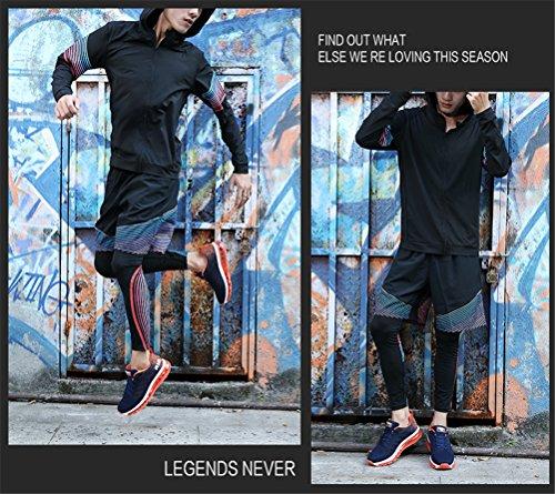 BETY Uomo Donna Air Scarpe da Ginnastica Corsa Sportive Fitness Running Sneakers Basse Interior Casual all'Aperto Blue Orange