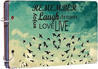 "Studio Shubham""Love, Laugh,Live,Dream"" Wooden Photo Album(26cmx16cmx4cm)"