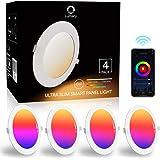 Downlight Led Techo Inteligente Ultrafina 6W 480LM, Lumary LED Empotrable Techo con Caja de Conexiones Controlada por APP, Fu