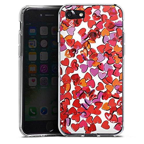 Apple iPhone X Silikon Hülle Case Schutzhülle Liebe Herz Muster Silikon Case transparent