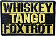 Whiskey Tango Foxtrot ACU Tactical Combat Emblem Embroidered Morale Hook & Loop P