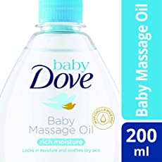 Baby Dove Rich Moisture Baby Massage Oil, 200ml