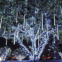 Rioddas Rimila Falling Rain Lights Without Plug, 5 W, White