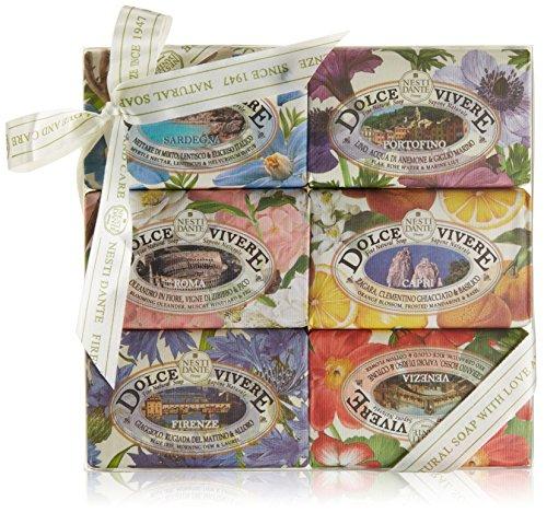Nesti Dante Dolce Vivere Soap Set, 6er Pack (6 x 150 g) Olivenöl Soap Bar