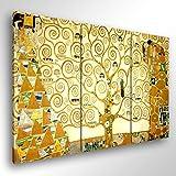 Quadro Moderno KLIMT L'ALBERO DELLA VITA - cm 150x100 Stampa su Tela Canvas Arredamento Arte Arredo Gustav Klimt XXL