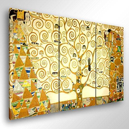 Degona Quadro Moderno KLIMT L\'ALBERO DELLA VITA - cm 150x100 Stampa su Tela Canvas Arredamento Arte Arredo Gustav Klimt XXL