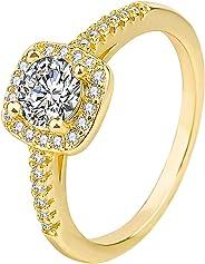 Ring for Women C ubic Diamond E ternity Engagement Wedding Band Gift Rings