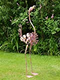 Philomena the Flamingo - Large Metal Garden Statue