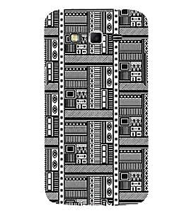 PrintVisa Black White Design 3D Hard Polycarbonate Designer Back Case Cover for Samsung Galaxy Grand 2 :: Samsung Galaxy Grand 2 G7105 :: Samsung Galaxy Grand 2 G7102