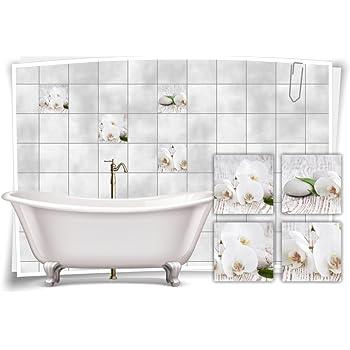 Medianlux Fliesenaufkleber Fliesenbild Blumen weiße Orchidee ...