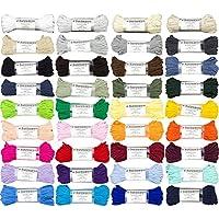 Algodón Cordón 5mm / 50m Hilo de Algodón Decoración Algodón 38 Colores