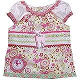 Mädchentop, Mädchenbluse Gr. 122, Bluse für Mädchen mit Stickerei Reh