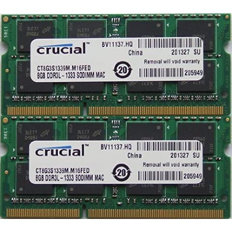 Ram memory upgrades 16GB kit (8GBx2) DDR3 PC3 10600 1333Mhz for latest 2011 Apple MacbookPro's laptops , iMac's and Mac Mini's
