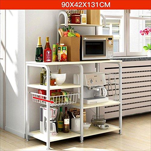Rack Nan Küche Mikrowelle Mehrstöckige Küche Liefert Lagerung Regale Abtropfbrett Regale (Farbe : Maple Color)