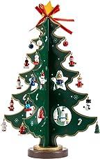 tropicalboy Mini Weihnachtsbaum Holz Tisch Deko Weihnachten Baum Dekoration Weihnachtsdeko Weihnachtsbaumschmuck DIY Geschenk