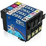 STAROVER 4x 29 XL 29XL(T2991 T2992 T2993 T2994) Cartouches d'encre Remplacement Compatibles Pour Epson Expression Home XP-235 XP-245 XP-247 XP-330 XP-332 XP-335 XP-342 XP-345 XP-430 XP-432 XP-435 XP-442 XP-445 Imprimante (1 Noir + 1 Cyan + 1 Magenta + 1 Jaune)