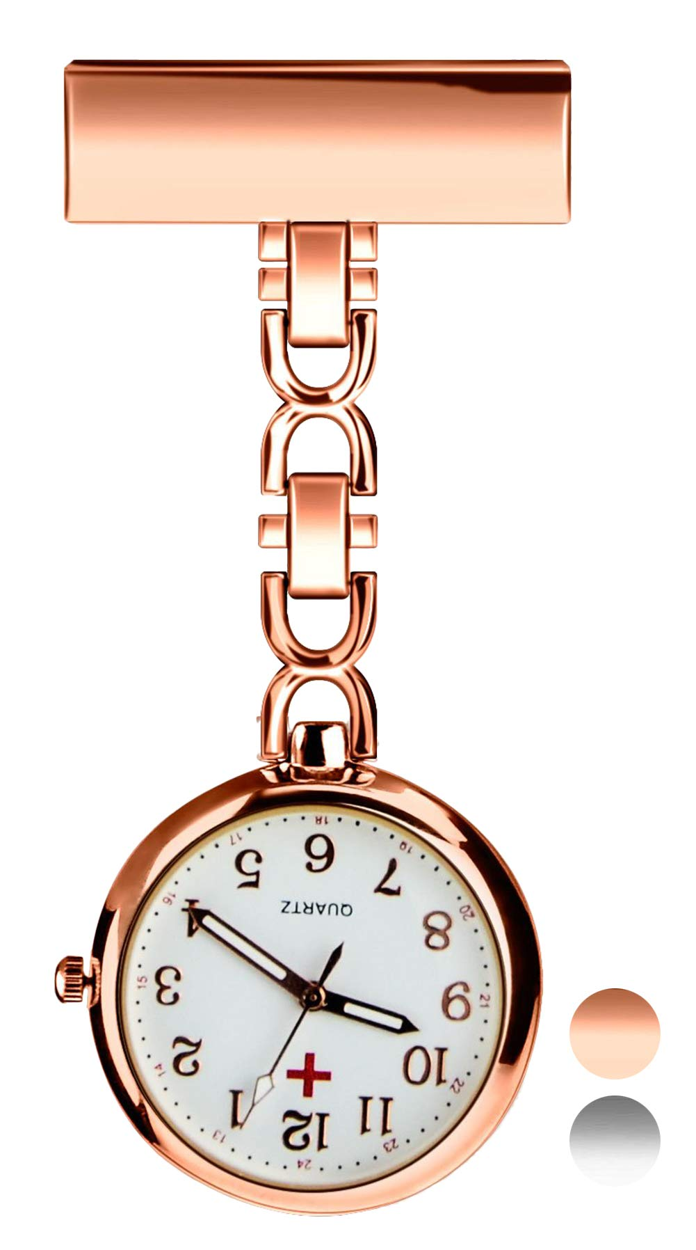 UEOTO Nurses Fob Watch – Medical Lapel Pin Clip-on Brooch Hanging Pocket Fob Watches for Men Women, Daily Waterproof…
