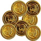 100 Goldmünzen aus Kunststoff für den Piratenschatz