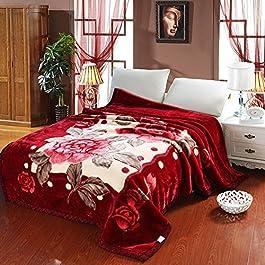 BDUK Die Decke ist mit dicken Decken Hochzeit Raschel Decke, Decken, warme Winter, 150*200cm5 Catty