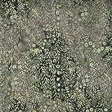 Fabric Freedom Sage Green Nebula-Design–100% Baumwolle, Batik Bali gebatikt aus Stoff für Patchwork- und Quilt- und Bastelarbeiten (Preis pro Viertel-Meter)